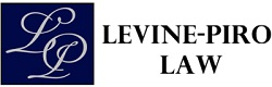 logo blue black and white levine piro law